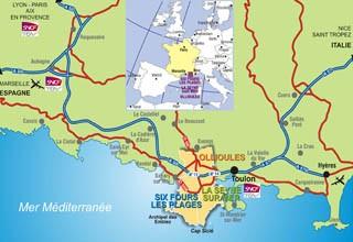 Venir à Six Fours, La Seyne, Ollioules et Saint Mandrier