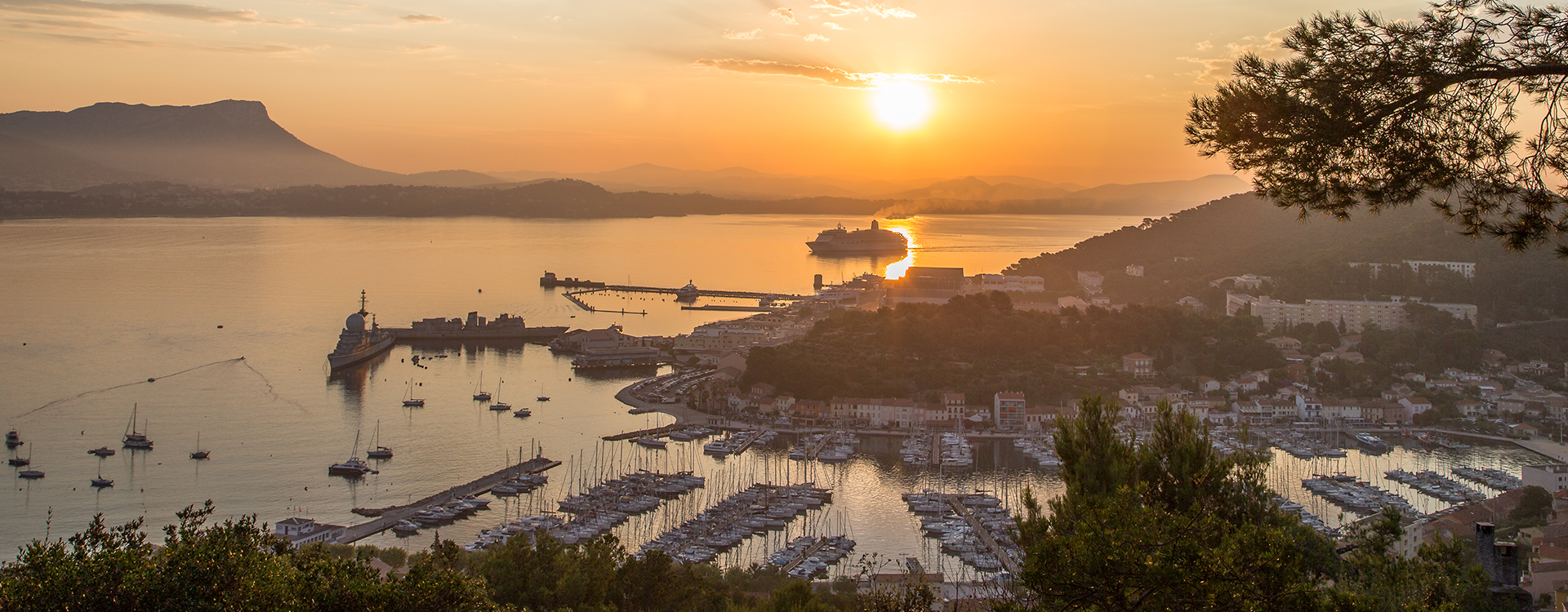 Saint Mandrier and Toulon Bay