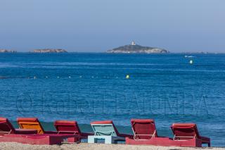 Bonnegrâce beach view on Rouveau island, Six Fours