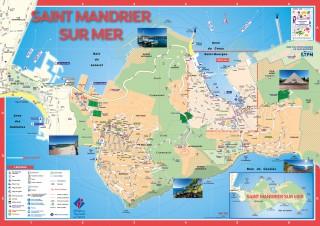Plan détaillé de la ville de St Mandrier et Pin Rolland