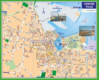 Plan détaillé du centre-ville de La Seyne sur mer