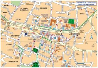 Plan détaillé du centre-ville de Six Fours les Plages