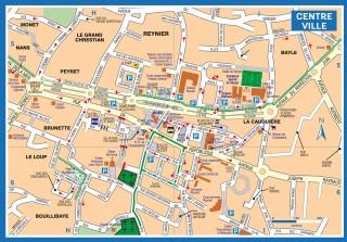 Plan détaillé du centre-ville Six Fours Les Plages