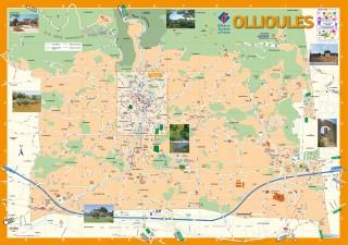 Plan de la ville d'Ollioules