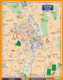 Plan du centre-ville d'Ollioules