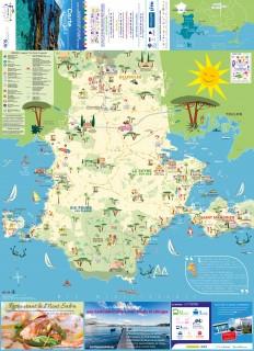 Plan touristique Ouest Var illustré par Monsieur Z