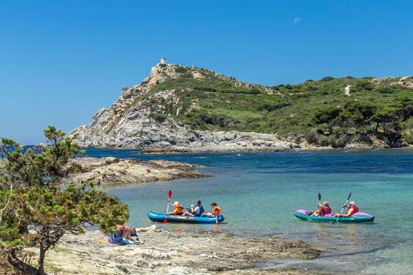 Kayak autour de l'archipel des Embiez