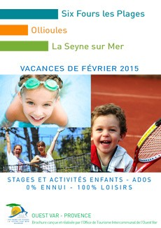 brochure with children's courses and activities