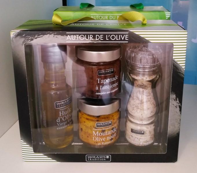 Coffrets cadeaux Savor & Sens huile olive tapenade souvenirs de provence