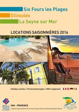 Guide des locations saisonnières 2016 Ot Ouest Var Six fours La Seyne Ollioules