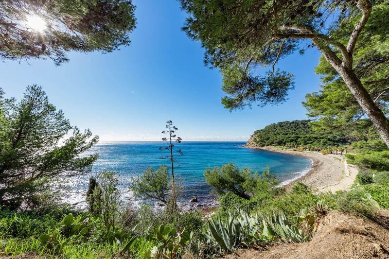 Plage de La Coudoulière Saint Mandrier sur mer Provence Méditerranée vacances