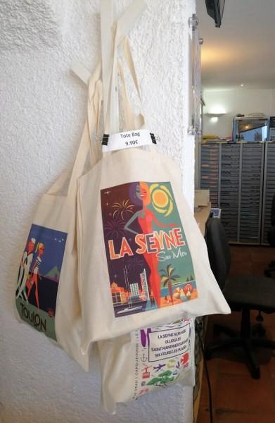 Tote bags La Seyne et Toulon Tote bags souvenirs de vacances