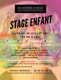 Stage enfant - Un Monde à Nous