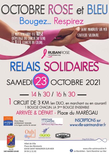 Relais solidaires octobre Rose à Saint Mandrier