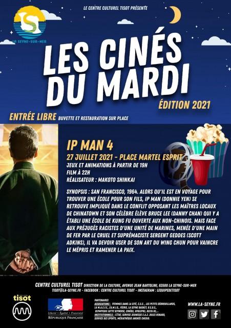 Agenda cinéma en plein air place Martel Esprit La Seyne