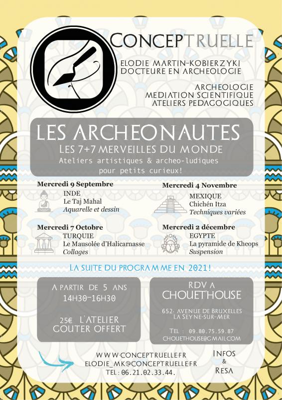 Ateliers artistiques & archeo-ludiques pour petits curieux