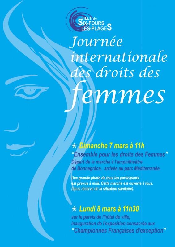 Marche dans le cadre de la journée internationale des droits de la femme