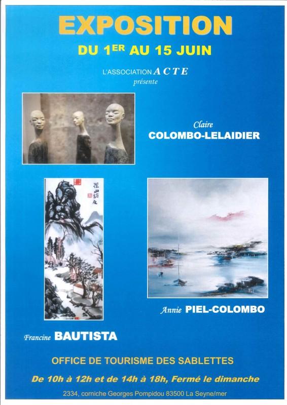 Exposition de peintures et sculptures office de tourisme La Seyne