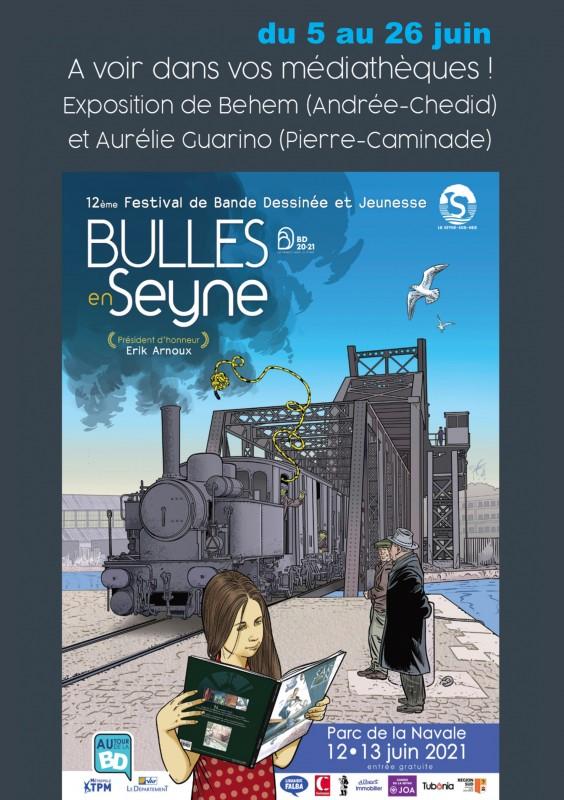 Exposition d'Aurélie Guarino médiathèque pierre Caminade la Seyne